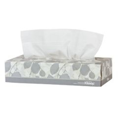 "Kimberly Clark 21400 KLEENEX, 2-PLY, Facial Tissue White 9""x8"" BOX/100"