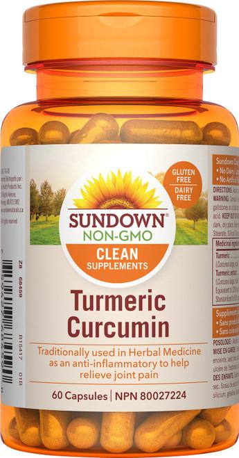 Sundown Naturals 800902 TURMERIC CURCUMIN 450MG, 60 CAPSULES