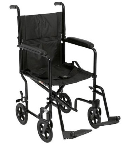 "Drive Medical ATC19-BK Transport Chair 19"" Black"