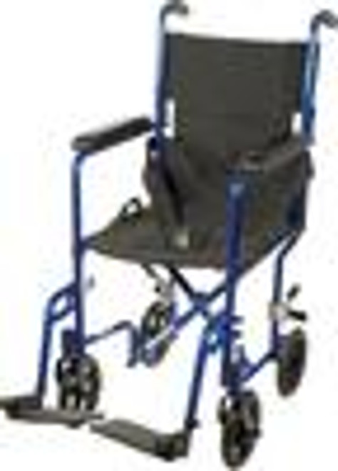 "Transport Chair Aluminum 19"" Blue ATC19-BL (3257)"
