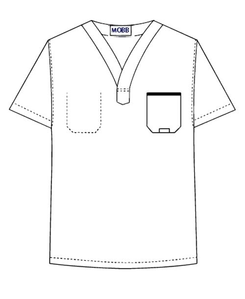 MOBB Medical 306TA Reversible O.R Scrub Top, Lagoon, XXS-5XL, Each