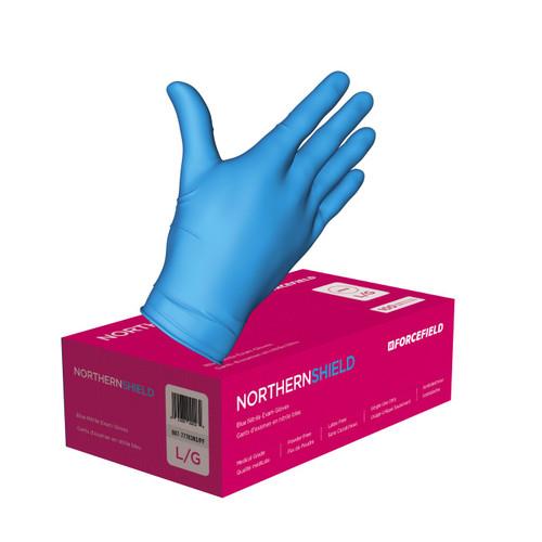 Northern Sheild Blue Nitrile - Medical Gloves - Large
