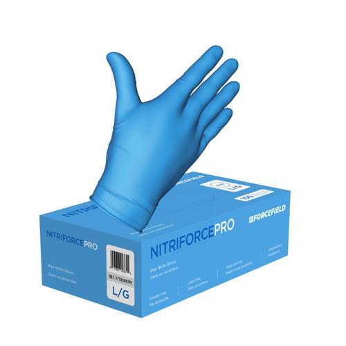 NitriForce Pro- Blue - Nitrile - Industrial Grade - Medium