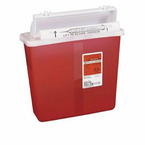 Covidien 8507SA SHARPSTAR IN-ROOM CHARPS CONTAINER W/ COUNTER BALANCED LID, 5 QT