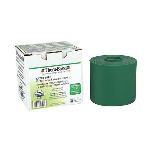 """Thera-Band 20140 THERABAND HEAVY EXERCISE BAND, 5.5"""" X 50YD, GREEN, LATEX"""