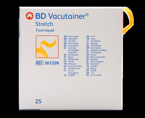 "BD 367209 Vacutainer Stretch Latex-Free Tourniquet 1"" x 18"" Orange & Disposable BX/25"