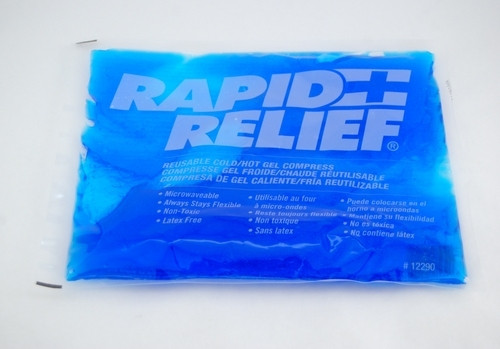 """Rapid Aid 12290-12 Cold/Hot Reusable gel, 10"""" x 12"""", Case of 12"""