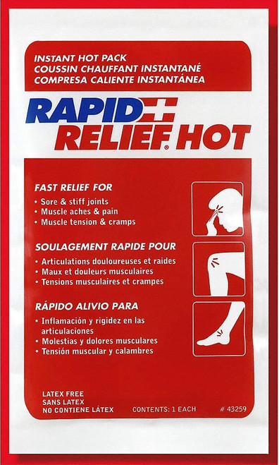 """RAPID AID 43259-24 COMPRESS INSTANT HOT, 5""""X9"""", Case of 24"""