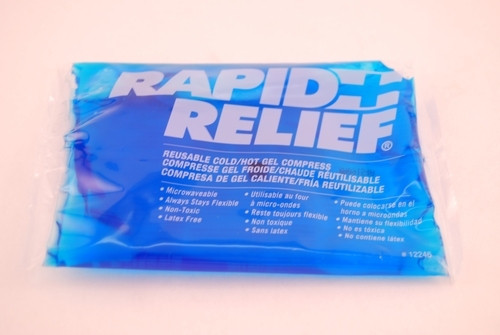 """Rapid Aid 12246 RAPID RELIEF GEL PACK COLD/HOT 4""""X6"""", Each"""