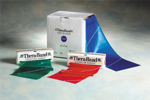 """Thera-Band 20130 THERABAND MEDIUM EXERCISE BAND, 5.5"""" X 50 YD, RED, LATEX, 1 Roll"""