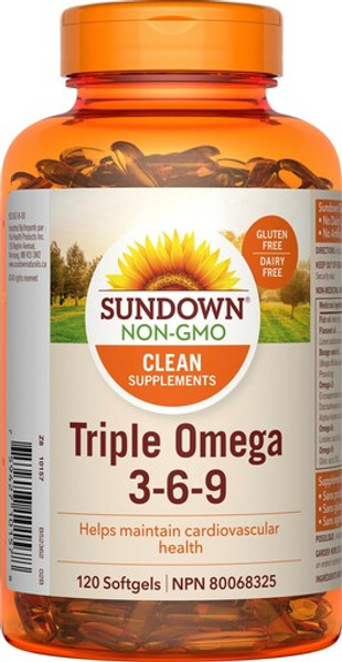 Sundown Naturals 800900 TRIPLE OMEGA 3-6-9 400MG, 120 CAPSULES
