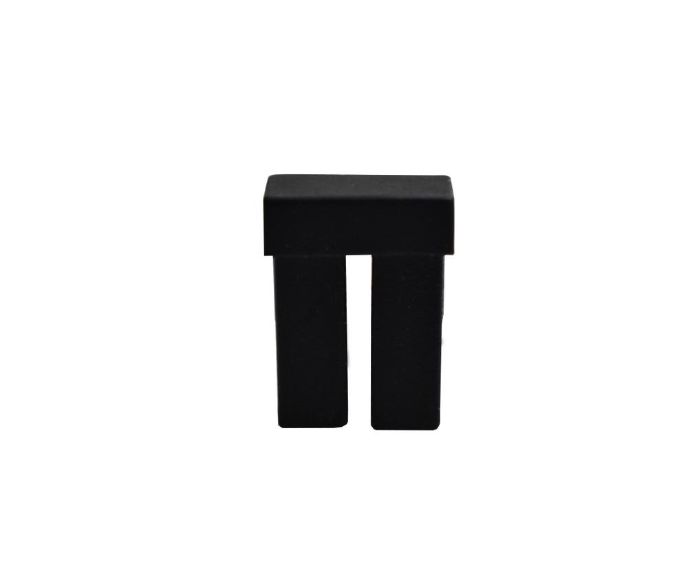 LC Adapter Dust Cap, Duplex, Black Rubber type