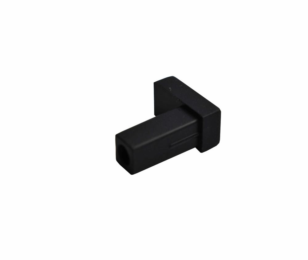 LC Adapter Dust Cap, Simplex, Black Rubber type