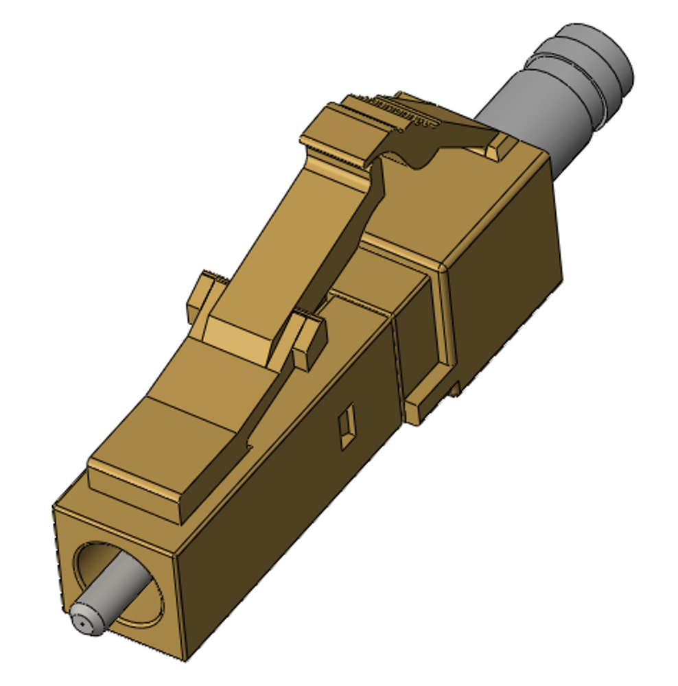 LC 304 Stainless Steel Multimode Connectors, Simplex
