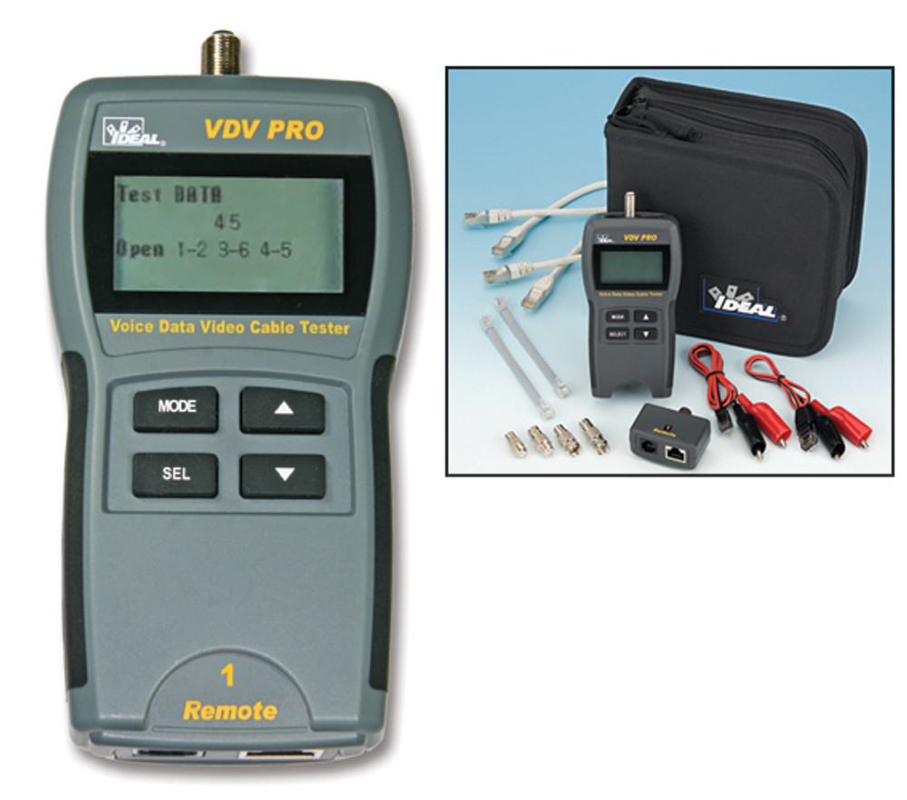 Ideal 33-770 VDV PRO RJ45 and Coax Cable Tester W/ Remote