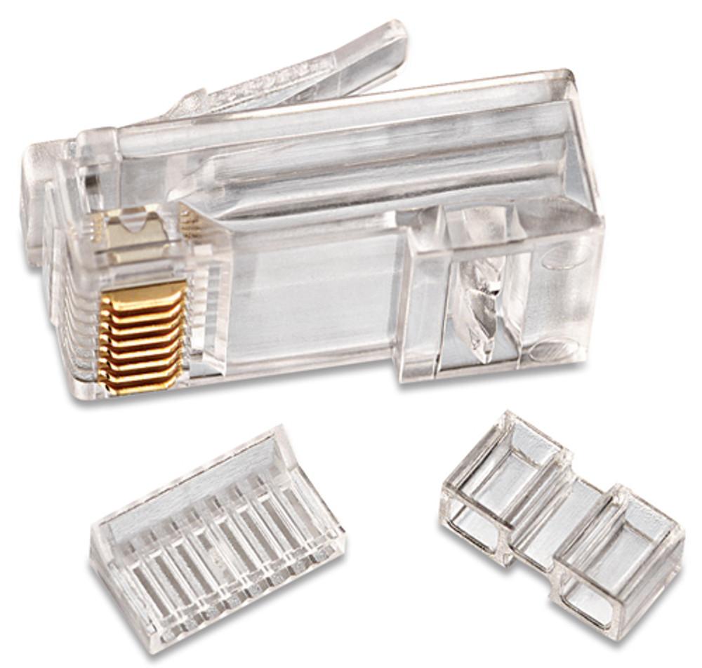 Ideal 85-366 RJ45 CAT 6 Modular Plugs, 3-Piece, Pk/25