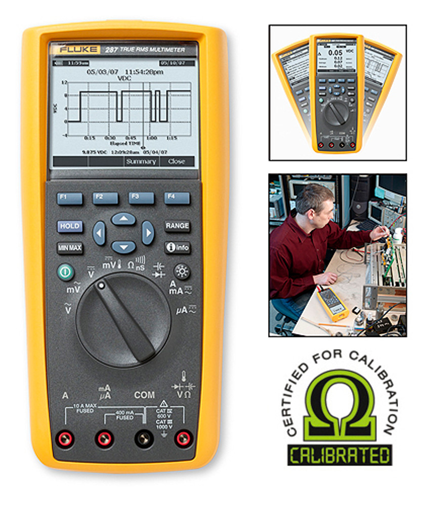 Fluke 287 True RMS Digital Logging Multimeter - Calibrated