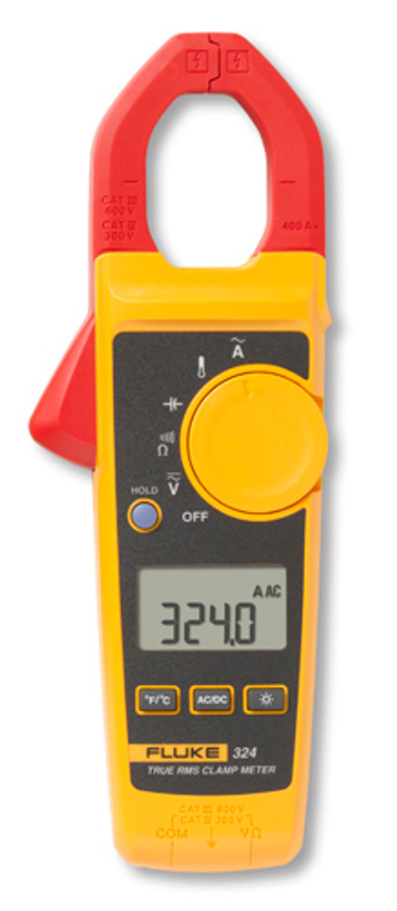 Fluke 324 True-RMS AC Clamp Meter, 400A with Temperature