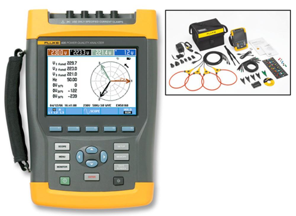 Fluke 435-II Three-Phase Power Quality & Energy Analyzer