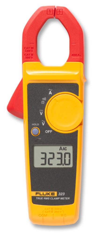 Fluke 323 True-RMS AC Clamp Meter, 400A