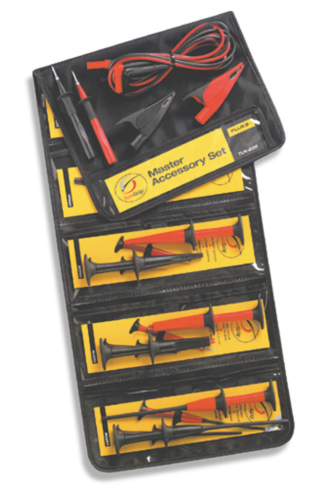 Fluke TLK225 SureGrip Test Leads and Accessory Kit