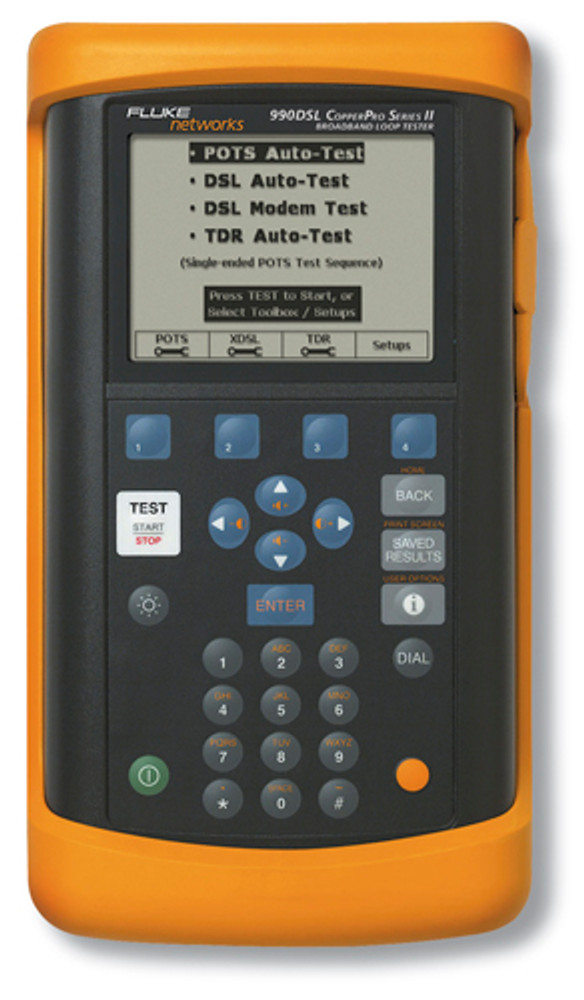 Fluke Networks 990DSL2+ CopperPro Broadband Loop Tester