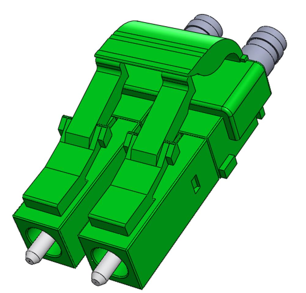 LC/APC Singlemode Connector, Duplex