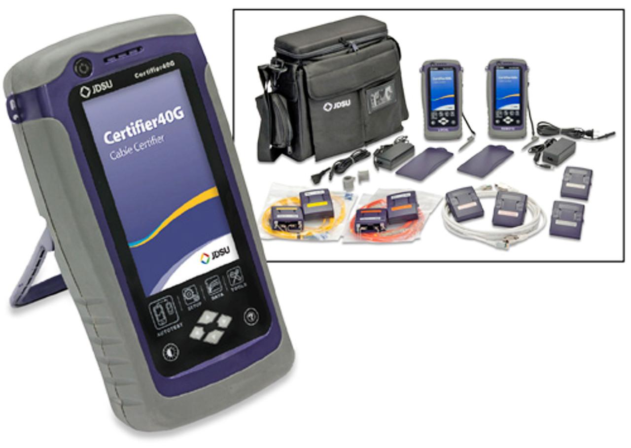 Jdsu Certifier40g Cat6a Cable Certifier Mm Sm Fiber Tester Kit