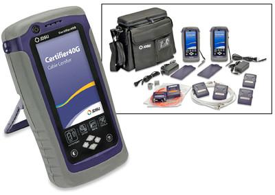 JDSU Certifier40G Cat6A Cable Certifier & MM Fiber Tester Kit