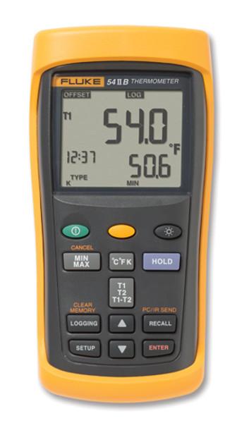 Fluke 54-2B Dual Input Digital Thermometer w/ Data Logging