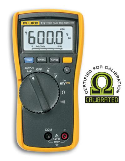 Fluke 114 True RMS Digital Multimeter - Calibrated