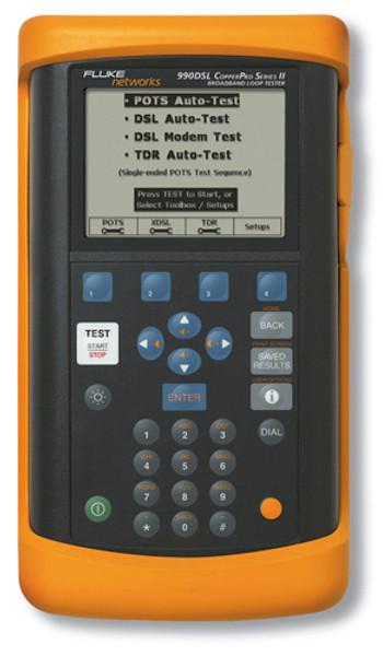Fluke Networks 990DSL2+ CopperPro Broadband Loop Tester