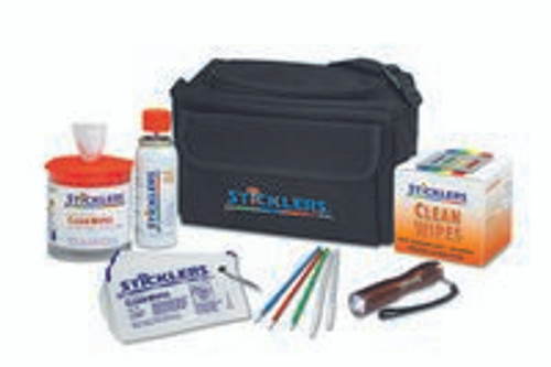 PFP Sticklers Military Ready Fibre Optic Cleaning Kit Black Bag