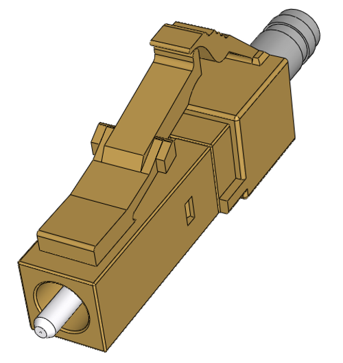 LC Multimode Connectors, Simplex