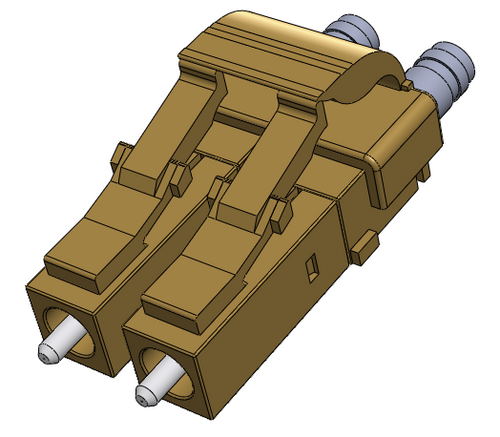 LC Multimode Connectors, Duplex, 127um