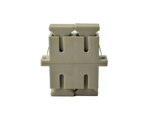 PFP SC Duplex Adapter, Beige Housing, Metal Sleeve