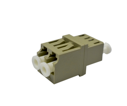 PFP LC Adapter Multimode Duplex, Beige, LC Mount, Metal Sleeve