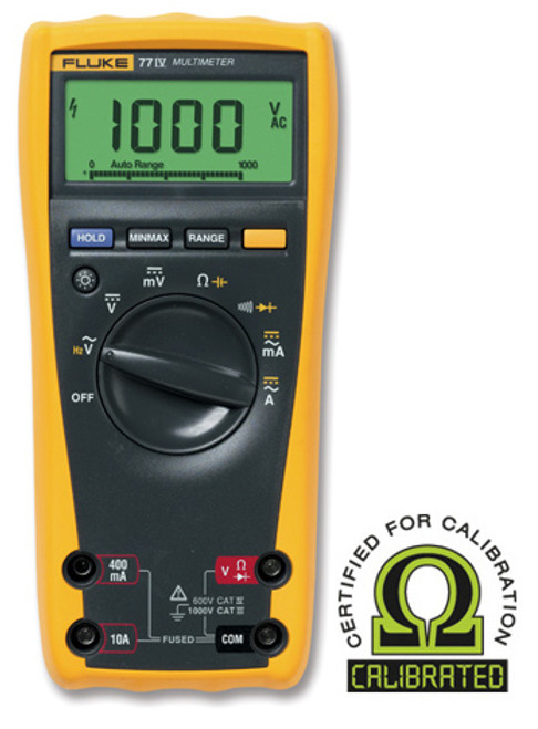 Fluke 77-IV Digital Multimeter - Calibrated