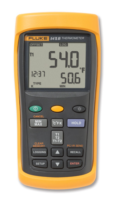 Fluke 54-2B Dual Input Digital Thermometer w/ Data Logging