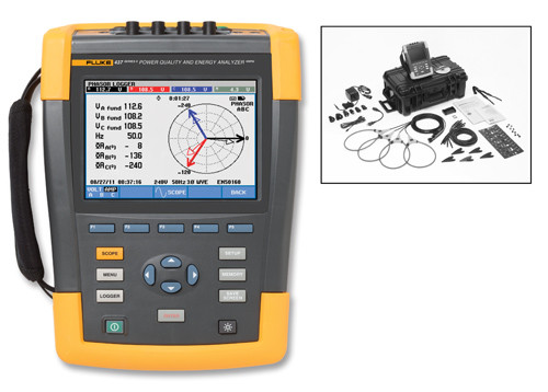 Fluke 437-II Three-Phase Power Quality & Energy Analyzer