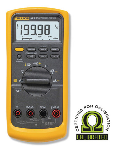 Fluke 87V True RMS Digital Multimeter - Calibrated
