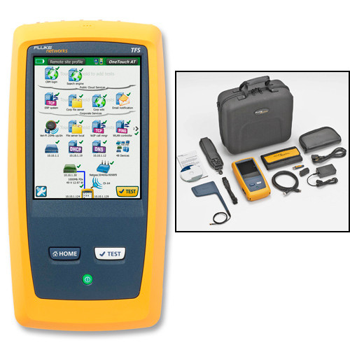 Fluke Networks 1T-2000 OneTouch AT Tester Copper/Fiber LAN/WiFi