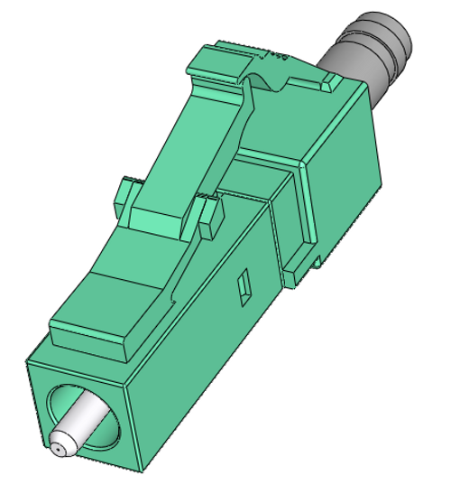 LC Multimode Connector OM3 and OM4, Simplex