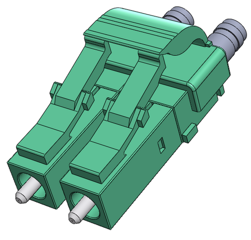 LC Multimode Connector OM3 and OM4, Duplex