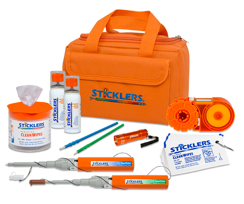 PFP Sticklers Heavy Duty Fiber Optic Cleaning Kit Orange Bag