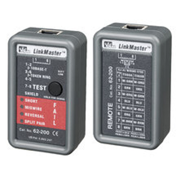 Ideal 62-200 LinkMaster RJ45 Cable Tester w/ Remote