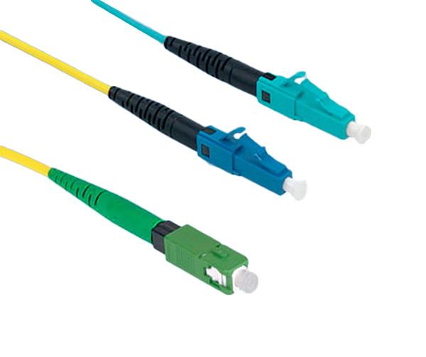 FuseConnect, LC, PC, MM, 50UM 10gig, Pack of 6, Aqua