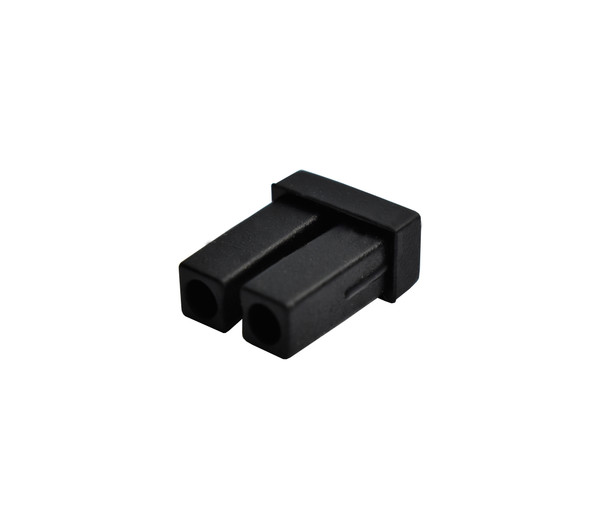 LC Adapter Dust Cap, Duplex, Black Rubber type