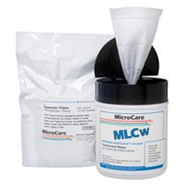 "MicroCare MultiClean Economy Wipes, Wipe, Presat, 100pk 8""x5"""