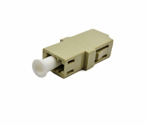 PFP LC Adapter Multimode Simplex, Beige, LC Mount, Metal Sleeve